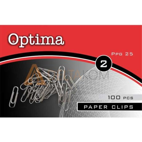 Sponke za papir Optima, 25mm, 100/1
