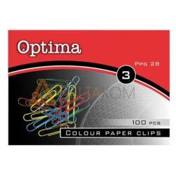 Barvne sponke za papir Optima 28mm