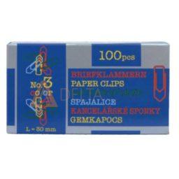 Barvne sponke za papir Niko, 30mm, 100/1