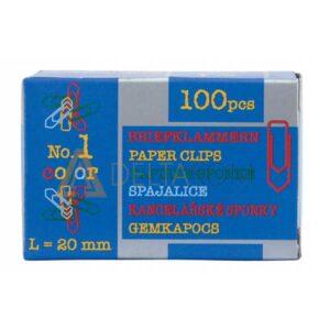Barvne sponke za papir Niko, 20mm, 100/1