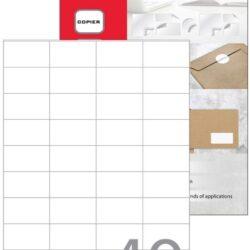 Etikete A4 laser-inkjet 48.5 x 25.4mm