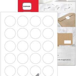 Etikete A4 laser-inkjet OKROGLA fi 40 mm