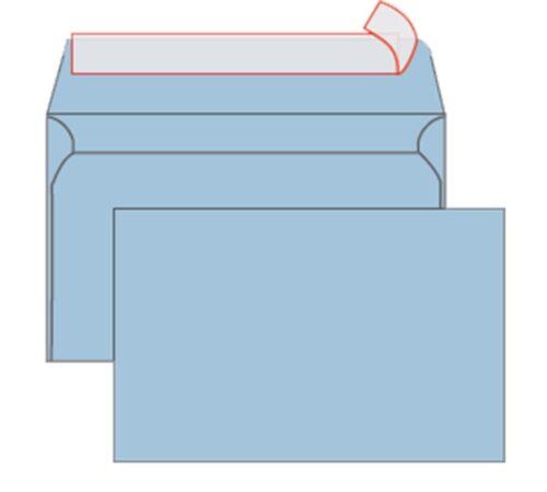 Kuverta B6 12x18 80gr STRIP modra