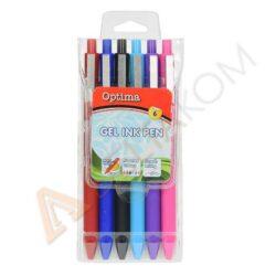Gel pisala Optima Soft Touch 6 barv
