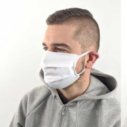 Univerzalna bela zaščitna maska za obraz poliester
