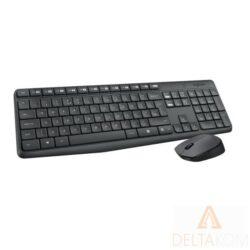 LOGITECH MK235 brezžična črna tipkovnica+miška